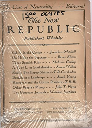 The New Republic, Volume LXXXII, No. 1190: September 22, 1937: Blevin, Bruce (editor)