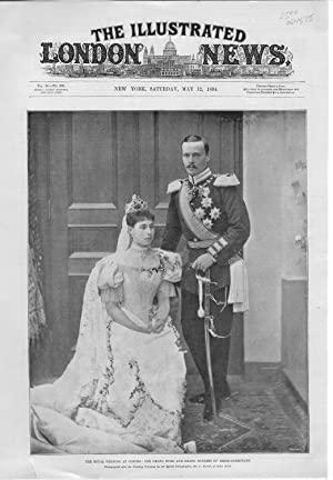 "PRINT: ""The Royal Wedding At Coburg: The Grand Duke and Grand Duchess of Hesse-Armstadt"" ...."
