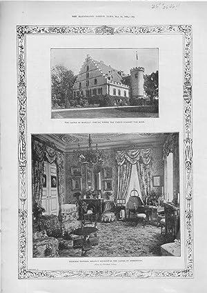 "PRINT: ""The Royal Wedding At Coburg: 2 views"" .photo from The Illustrated London News, ..."