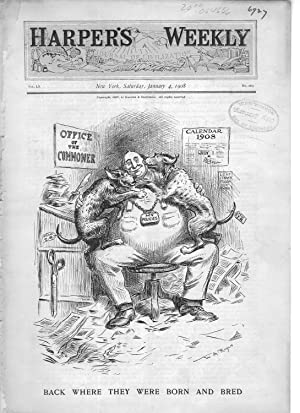 """ENGRAVING: """"Back Where They Were Born and Bred"""".engravings from Harper's Weekly, ..."""