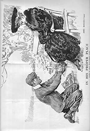 "ENGRAVING: ""In His Proper Place'.engraving from Harper's Weekly, January 25, 1908: ..."