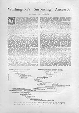 """PRINT:\""""Washington's Surprising Ancestor"""".story, photo and Family tree from Harper&#..."""