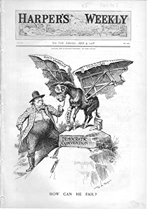 "ENGRAVING: ""How Can he Fail?"".engraving from Harper's Weekly, April 4, 1908: Bryan, ..."