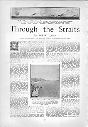 "PRINT: ""Through the Straits (of Magellan)"".story & photos from Harper's Weekly, ..."