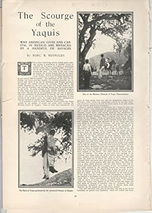 "PRINT: ""The Scourge of the Yaquis"".story & photos from Harper's Weekly, May 2, ..."