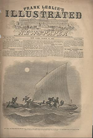 """ENGRAVING: """"The War in Louiisiana: Capture of a Contrabandist on Lake Pontchartrain"""". ..."""