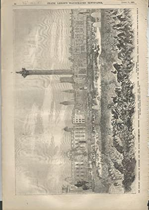 "ENGRAVING: ""The Princess Alexandra of Denmark and the Royal Cortege passing Through Trafalgar ..."