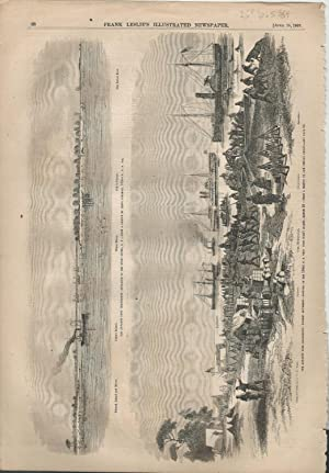 """ENGRAVING: """"The Advance Upon Charleston"""". engraving from Frank Leslie's Illustrated ..."""