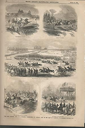"""ENGRAVING: """"The Irish Brigade, General T.F. Meagher, Celebrating St. Patrick's Day in the..."""