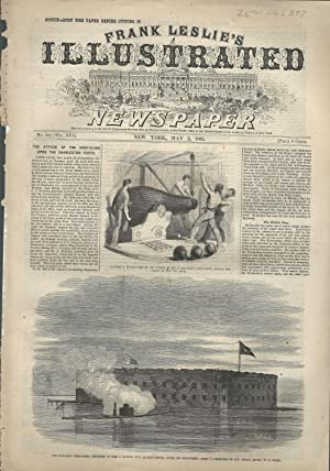 """ENGRAVING: """"The Attack of the Iron-Clads Upon the Charleston Forts"""".story & engraving..."""