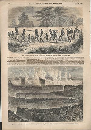 """ENGRAVING: """"Two Views of Africa"""".engraving from Frank Leslie's Illustrated Newspaper..."""