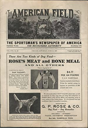 The American Field Sportsman's Journal; Volume CVII (57), No. 25:June 18, 1927: Young, Frank M...