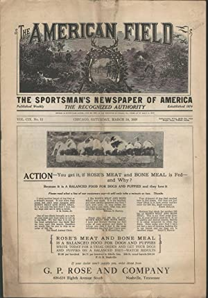 The American Field Sportsman's Journal; Volume CIX (59), No.12: March 24, 1928: Young, Frank M...