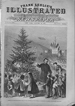 """ENGRAVING: """"Christmas Day at the Howard mission--Home: Frank Leslie's Illustrated"""