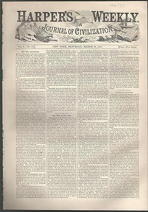 Harper's Weekly: Journal of Civilization: Vol. 1, No. 13: March 28, 1857: Harper's Weekly