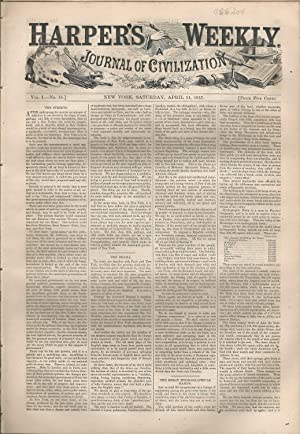 Harper's Weekly: Journal of Civilization: Vol. 1, No. 15: April 11, 1857: Harper's Weekly