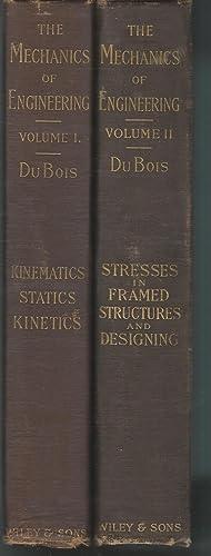 The Mechanics of Engineering, Volume I & II (2 Volumes, complete): DuBois, A. Jay