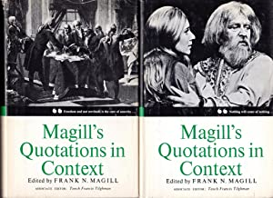 Magill's Quotation In Context: Second Series (2: Magill, Frank N.