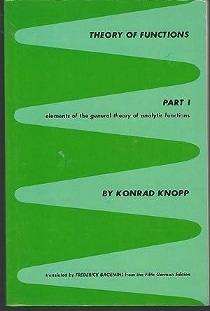 Theory of Functions Volume 1: Part One: Knopp, Konrad) Bagemihl,