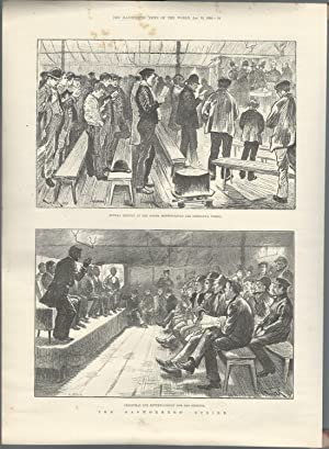 ENGRAVING: 'The Gasworkers' Strike'.engraving from The Illustrated London News, ...