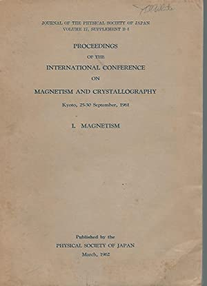 Proceedings of the International Conference on Magnetism: Unknown Editor