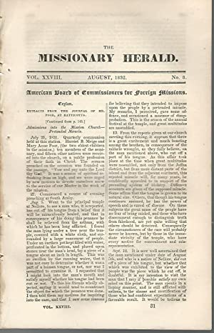 The Missionary Herald; Volume XXVIII (28), No.8: August, 1832: Editor Unknown) Board of ...