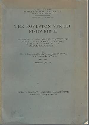 The Boylston Street Fishweir II A Study of the Geology, Palaeobotany and Biology of a Site on ...