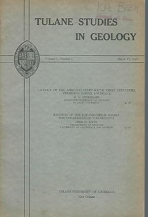 Tulane Studies in Geology: Volume 3, No. 2: March 15, 1965: Skinner, Hubert C. (editor)