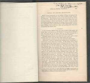 Notes on Eskimo Traditions from the Journal of American Folk-Lore, July-September, 1894: Smith, ...