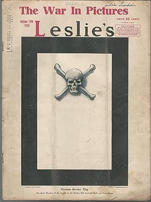 Leslie's Illustrated Weekly Newspaper, Volume CXXVII, No. 3293; October 19, 1918: Sleicher, ...
