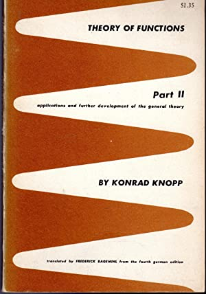 Theory of Functions Volume 1: Part Two: Knopp, Konrad) Bagemihl,
