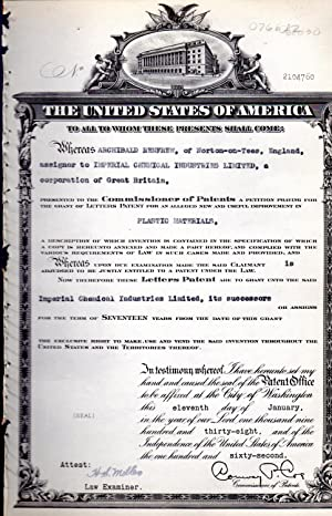 Patent #2104760 Granted to Archibald Renfrew of.England,: United States Patent