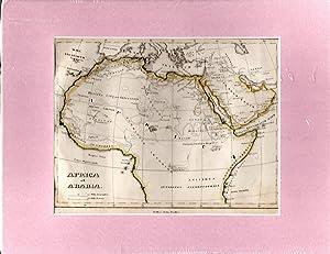 MAP: 'Africa et Arabia'. from Orbis Terrarum: Schul-Atlas der Alten