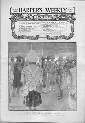 """ENGRAVING: """"The Surrender of General Cronje"""".article and engraving from Harper's ..."""