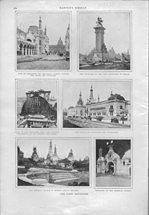 "ENGRAVING: ""The Paris Exposition"".photoengravings from Harper's Weekly, April 21, ..."