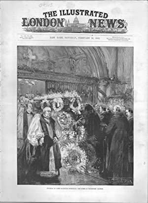 """ENGRAVING: """"Funeral of Lord Randolph Churchill"""" .engravings: Churchill, Randolph Henry"""