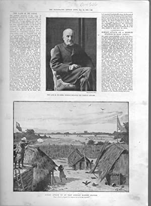 """PRINT: """"Somali Attack on a Mission Station in East Africa"""" .story and engravings from The ..."""