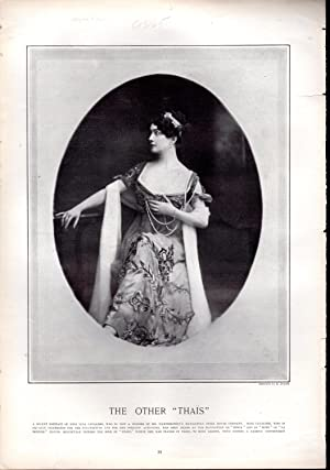 """PRINT: """"The Other 'Thais' (Lina Cavalieri)"""". photoengravings from Harper's ..."""