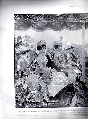 "ENGRAVING: ""The Vincennes Compliment Returned at Aldershot"".engravings from Illustrated ..."