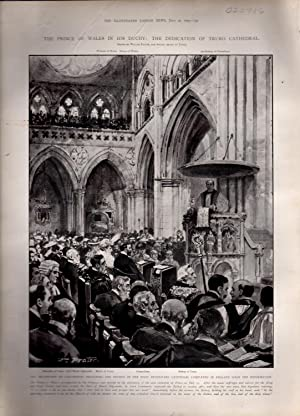 "ENGRAVING: ""The Prince of Wales in His Duchy: The Dedication of Truro Cathedral""...."