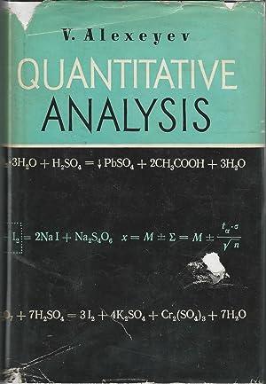 Textbook Quantitative Analysis Seller Supplied Images Abebooks