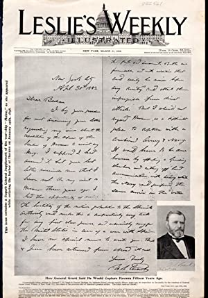 """PRINT: """"How General Grant Said he Would Capture Havanna Fifteen Years Ago"""".facsimile and ..."""