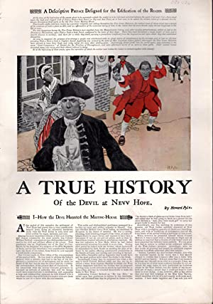 "PRINT: ""A True History of the Devil: Pyle, Howard)"