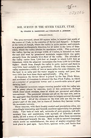 Soil Survey of Sevier Valley, Utah.disbound from Field Operations of the Division of Soils, 1900: ...