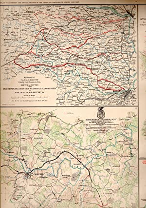 MAP: 6 Section Map, Including Maps of Petersburg, Chester Station & Manchester to Amelia ...