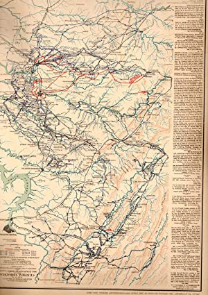 MAP: 5 Section Maps of the Routes of a Raid Made By Cavalry Under P.H. Sherman Including Central ...