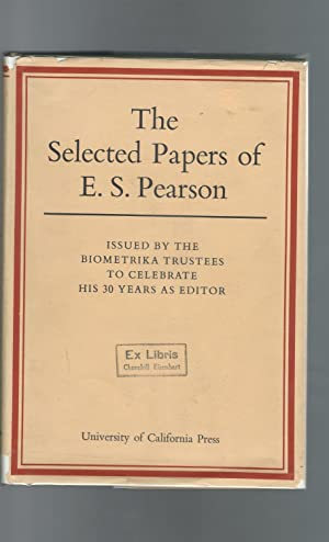 Selected Papers of E.S. Pearson: Pearson, E. S. (Egon Sharpe)