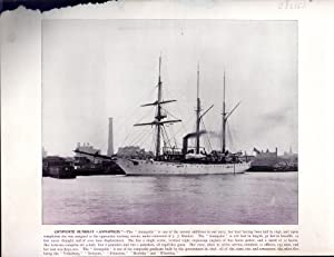 "PRINT: "" Composite Gunboat ""Annapolis"" .engraving from Harper's Weekly, June 11, ..."