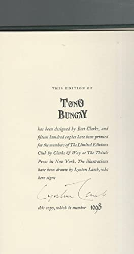Tono-Bungay [SIGNED By Illustrator]: Wells, H.G.(Herbert George)