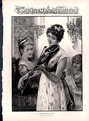 ENGRAVING: 'The Christmas Hymn'.from The Illustrated News of the World, Christmas Issue, ...